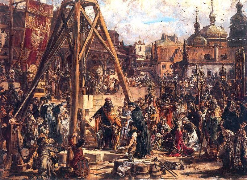 Powtórne zajęcie Rusi. Bogactwo i oświata. R.P. 1366 - obraz Jana Matejko