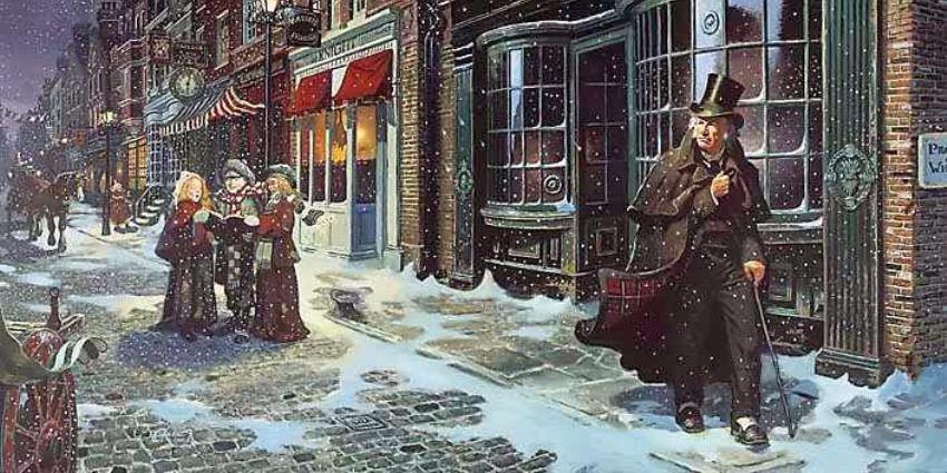 Ilustracja do Opowieści Wigilijnej - Karola Dickensa