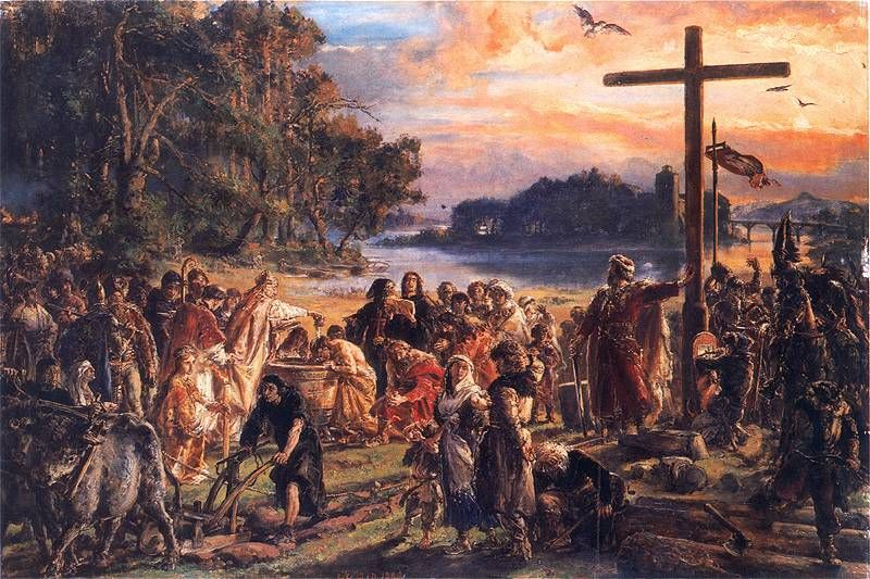 Chrzest Polski - obraza Jana Matejko
