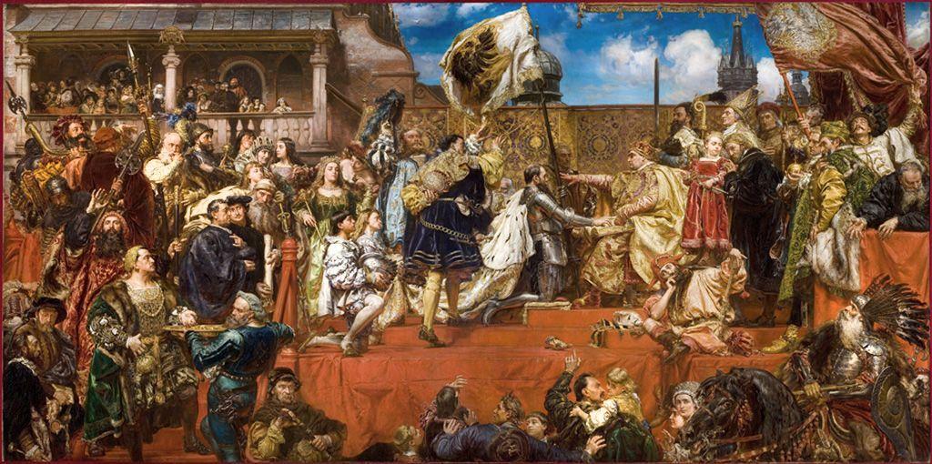 Hołd Pruski R.P. 1525 - obraz Jana Matejko
