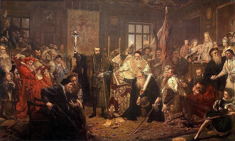 Unia Lubelska R.P. 1569 - obraz Jana Matejko