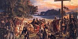 Zaprowadzenie chrześcijaństwa R.P. 965 - obraza Jan Matejko