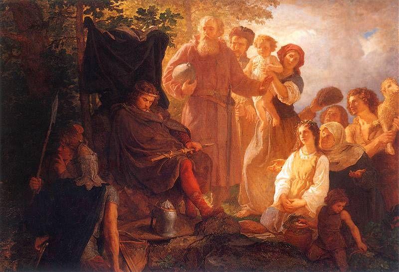 Władysław Łokietek na wygnianiu R.P. 1299 - obraz Wojciech Gerson