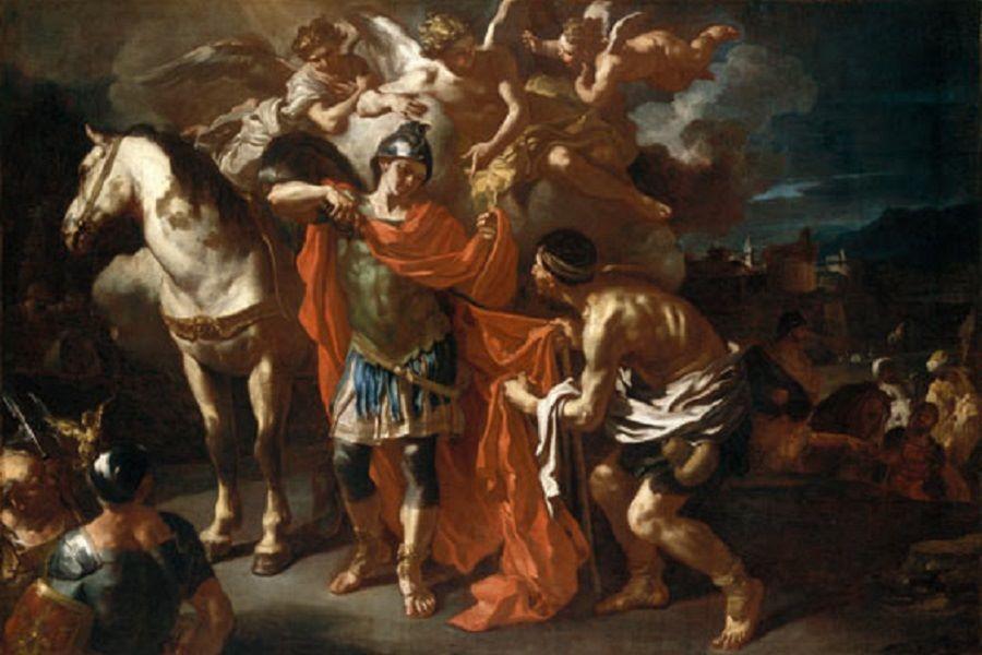 Święty Marcin dzieli się płaszczem z ubogim - Francesco Solimena