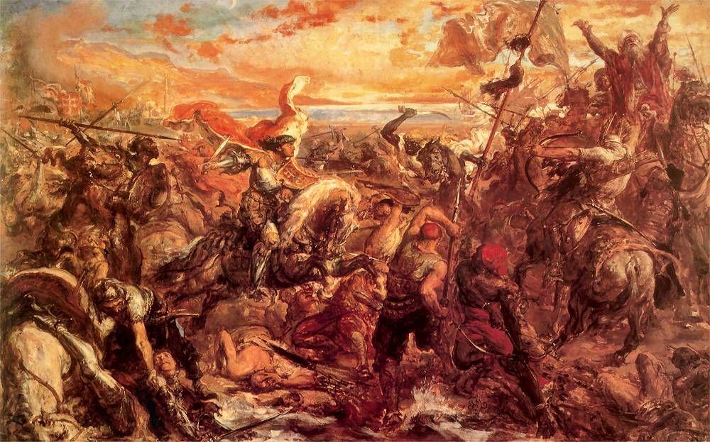 Bitwa pod Warną R.P. 1444 - obraz Jana Matejko