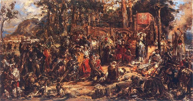 Chrzest Litwy R.P. 1386 - obraz Jana Matejko
