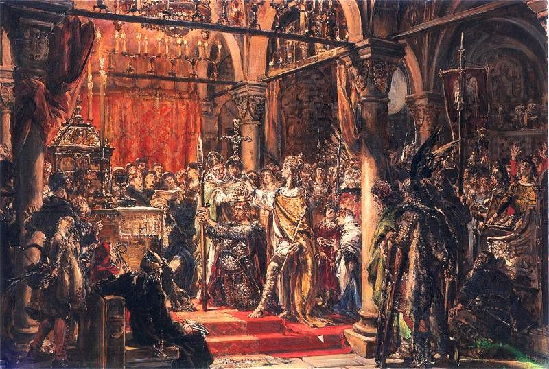 Koronacja pierwszego króla Polski R.P. 1025 - obraza Jan Matejko