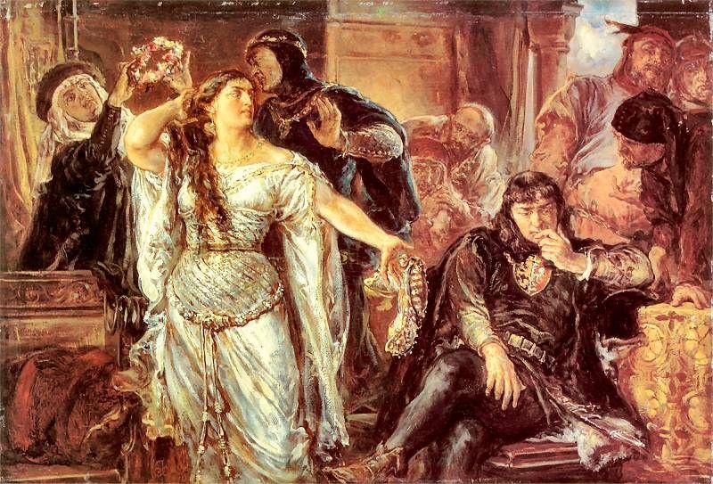 Spór małżeński Gryfiny z Leszkiem Czarnym - obraz Jana Matejko