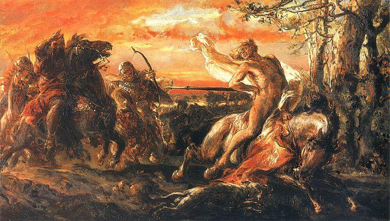 Zabicie Leszka Białego w Gąsawie - obraz Jana Matejko