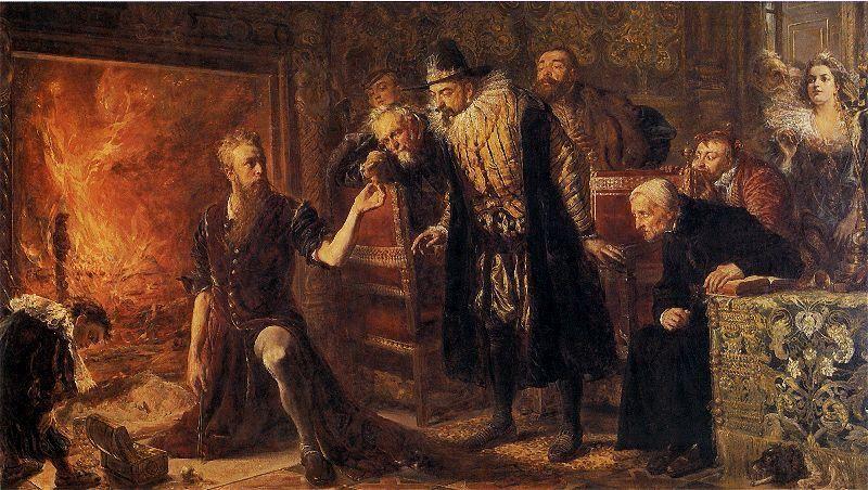 Alchemik Sędziwój i Król Zygmunt III Waza