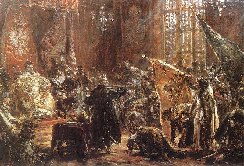 Carowie Szujscy przed Zygmuntem III na sejmie warszawskim 1611 r.