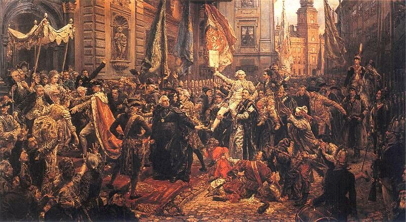 Uchwalenie Konstytucji 3 maja – obraz Jana Matejki, 1891